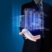 Ingeniería de automatización de diseño del edificio — Foto de Stock