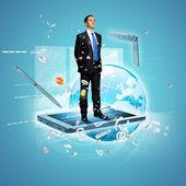 Ilustração de tecnologia moderna — Foto Stock