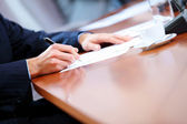 Business papers on the table — Stock Photo