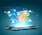 現代の通信技術 — ストック写真