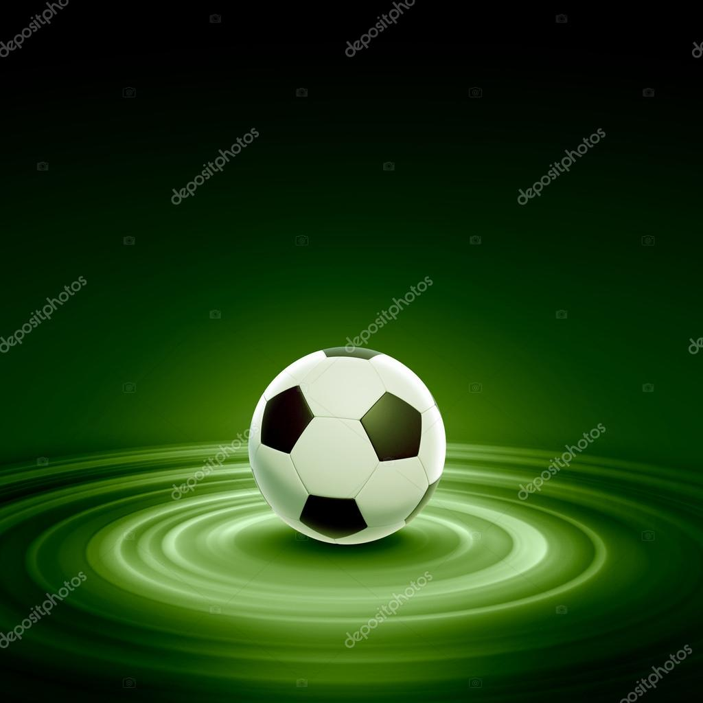 Black and white football or soccer ball, colour illustration  Stock Photo #16360573