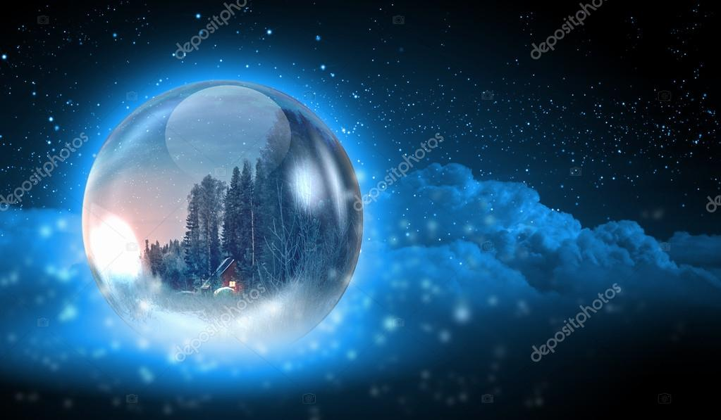 Earth symbol of the new year on our planet. Happy New Year and Merry Christmas — Stock Photo #16362085