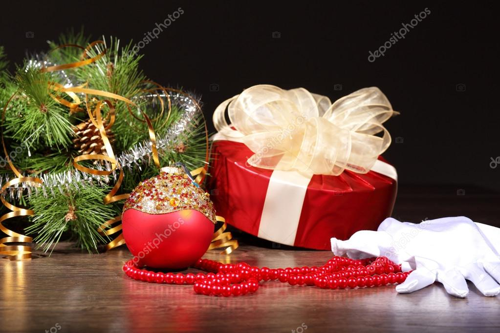 Beautiful christmas decorations for a christmas tree  Stock Photo #16366937