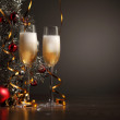 Glasses of champagne at new year party — Stock Photo #16370773