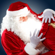 Stock Photo: Santa claus with his gift bag