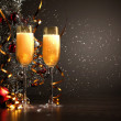 Glasses of champagne at new year party — Stock Photo #16371713