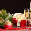 Glasses of champagne at new year party — Stock Photo #16371751