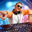 Dj and mixer — Stock Photo