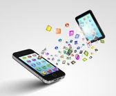 Modern communication technology — Stock Photo