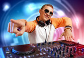 Dj and mixer — Stockfoto