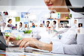 Business technologies today — Stock Photo