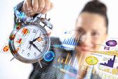 Tiempo en el negocio — Foto de Stock