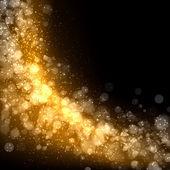 黄金抽象光背景 — 图库照片