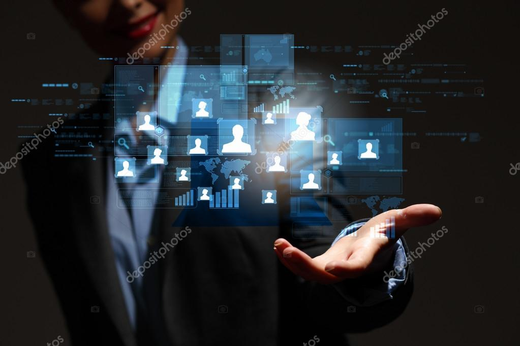 Modern wireless technology and social media illustration — Stock Photo #16373907
