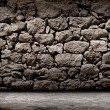 Стоковое фото: Texture of old rock wall for background