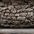 Foto de Stock  : Texture of old rock wall for background