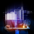 Engineering automation building designing. Construction industry technology — Stock Photo
