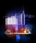 Engineering automation building designing. Construction industry technology — Foto de Stock