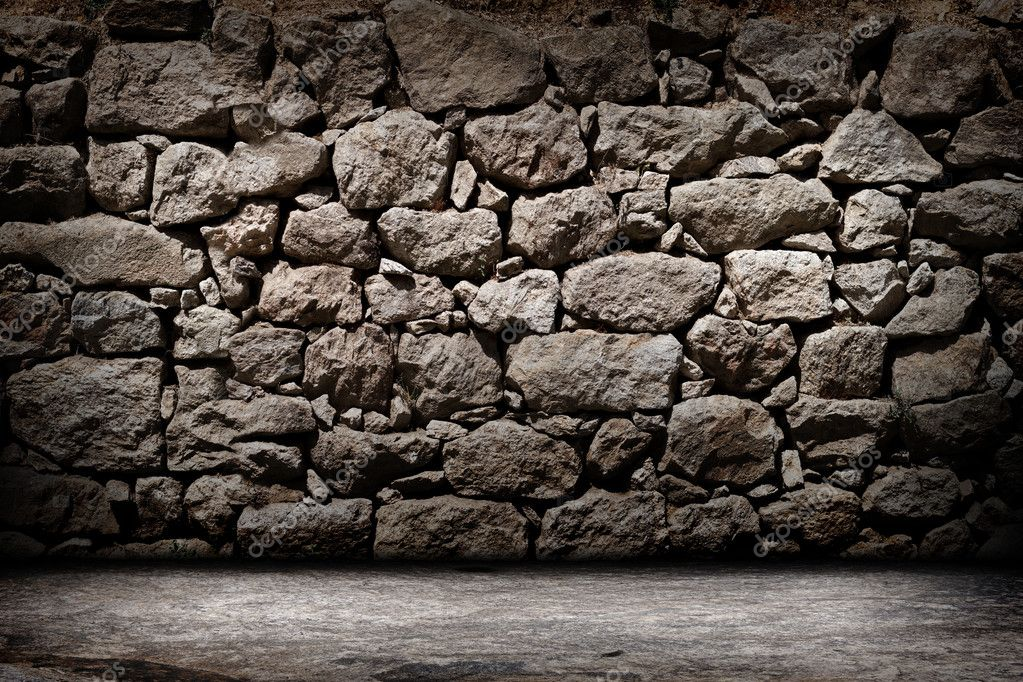 texture of old rock wall for background � stock photo