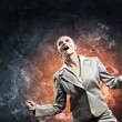 Businesswoman in anger - Stock Photo