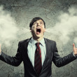 Businessman in anger — Stock Photo #21069703