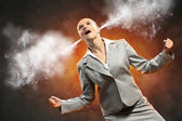 Businesswoman in anger — Stock Photo