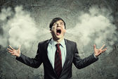 бизнесмен в гневе — Стоковое фото