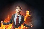 愤怒的商人 — 图库照片