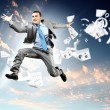 Stock Photo: Image of jumping businessman