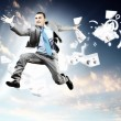 Image of jumping businessman — Stock Photo #21074997
