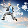 Image of jumping businessman — Stock Photo #21075023