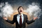 Podnikatel v hněvu — Stock fotografie