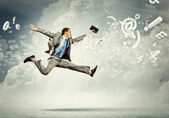 Image of running businessman — Stock Photo