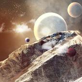 Obraz planet w przestrzeni — Zdjęcie stockowe