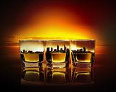 Three glasses of whiskey — Stock Photo