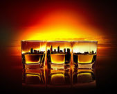 Three glasses of whiskey — Stock Photo