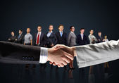 Image of business handshake — Stock Photo