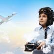 Little boy in pilot's hat — Stock Photo #21132005