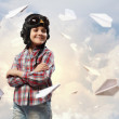Little boy in pilot's hat — Stock Photo #21132221
