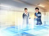 строительство и инновационных технологий — Стоковое фото