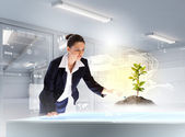 Environmental problems and high-tech innovations — Stock Photo