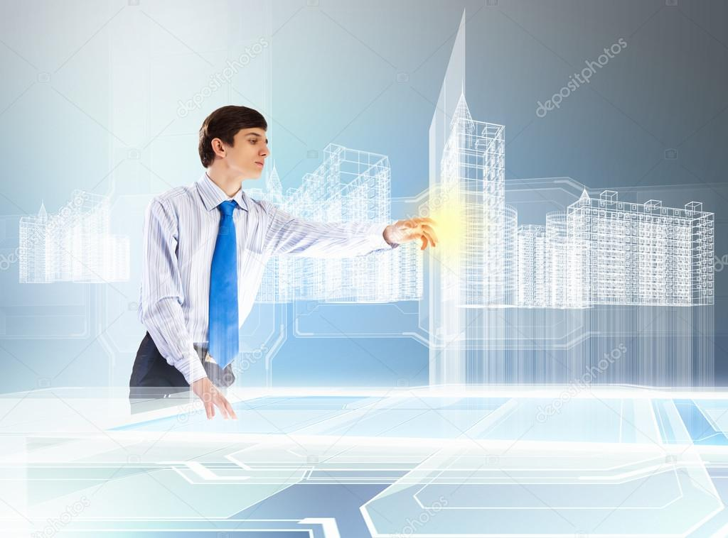 Construction and innovation technologies — Stock Photo ...