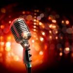Audio microphone retro style — Stock Photo #21148523