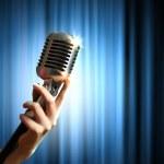 Audio microphone retro style — Stock Photo #21148683