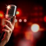 Audio microphone retro style — Stock Photo #21148803