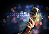 Ses mikrofon retro tarzı — Stok fotoğraf