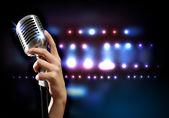 Style rétro audio microphone — Photo