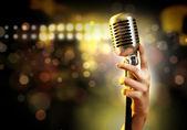Estilo retrô de áudio microfone — Foto Stock