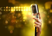 Retro styl zvuku mikrofonu — Stock fotografie