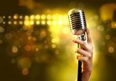 Stile retrò audio microfono — Foto Stock